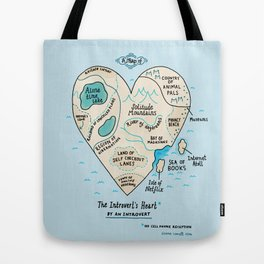 The Introvert's Heart Tote Bag