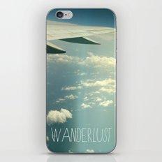 wanderlust airplane iPhone & iPod Skin