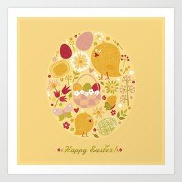 Easter (Yellow) Art Print