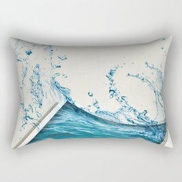 Water Color Rectangular Pillow