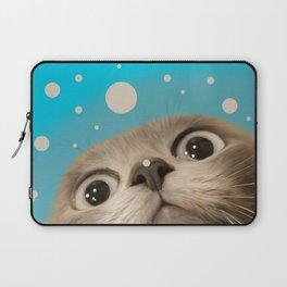 """Fun Kitty and Polka dots"" Laptop Sleeve"