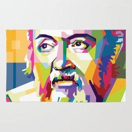 Galileo in Pop Art Portrait Rug