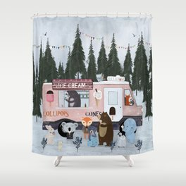 ice cream time Shower Curtain