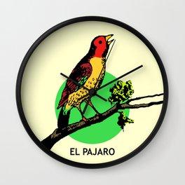 El Pajaro Mexican Loteria Card Wall Clock