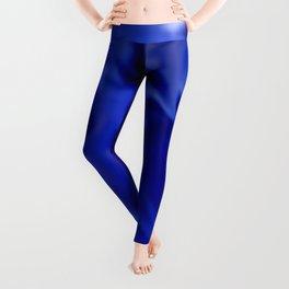 Dark Blue and silver waves Leggings