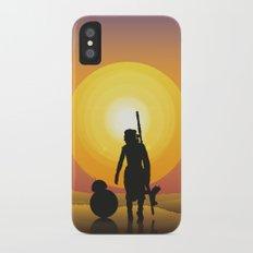 Walking under two suns Slim Case iPhone X