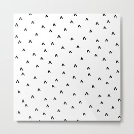 Arrow Heads // Black and White Metal Print