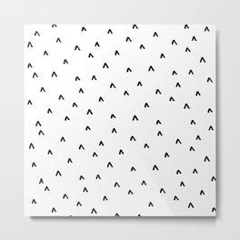 Arrow Heads // Black and White Metal Print