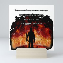 Firefighter Tribute Mini Art Print