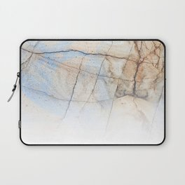 Cotton Latte Marble - Ombre blue and ivory Laptop Sleeve