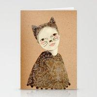 kiki Stationery Cards featuring Kiki Kitty by Irena Sophia