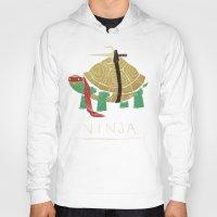 ninja turtle Hoodies featuring ninja - red by Louis Roskosch