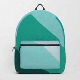 Green Teal Chevron Stripes Backpack