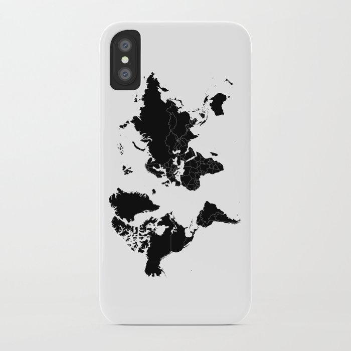 Minimalist world map black on white background iphone case by minimalist world map black on white background iphone case gumiabroncs Images