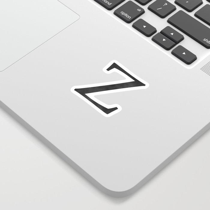 Letter Z Initial Monogram Black and White Sticker