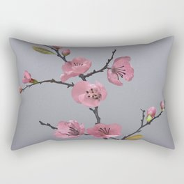Flowering Pink Quince Rectangular Pillow