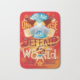 Defend the world Bath Mat