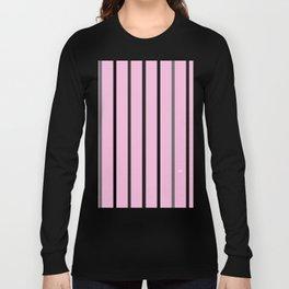 PINK MINIMAL STRIPES #black #white #stripes #minimal #art #design #kirovair #buyart #decor #home Long Sleeve T-shirt