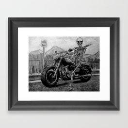 Skeleton Fat Boy Framed Art Print