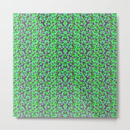 PURPLE AND GREEN MINI RECTANGLES Metal Print
