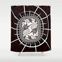 Map to Infinity Fractal Art Shower Curtain