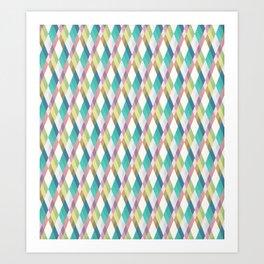 Pastel Diamonds Art Print