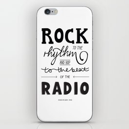 Kings of Leon hand-lettered print iPhone Skin