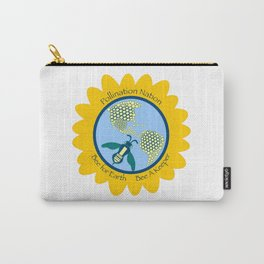 Save Bees, Bee a Keeper Carry-All Pouch