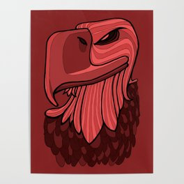 Eagle - Chile Oil Red Poster