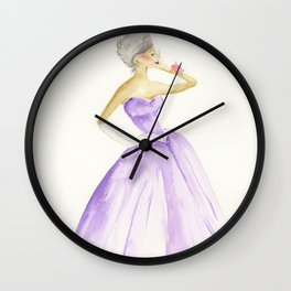 You Cannot Ignore the Color Purple Wall Clock