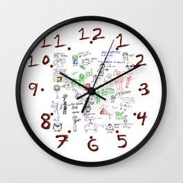 Steve's Graffitti Wall Wall Clock
