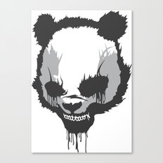 Dirty Angry Panda Canvas Print