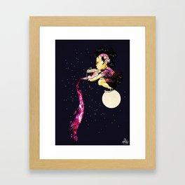 Lunar Tea Time Framed Art Print