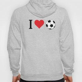 I Love Soccer Hoody