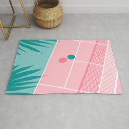 Jock - tennis sport retro neon throwback palm springs los angeles hollywood california sunny pop art Rug