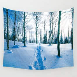 Snowshoeing Adventure Wall Tapestry