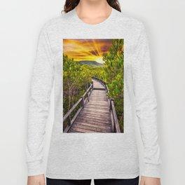Mangrove Forest Sunset Long Sleeve T-shirt