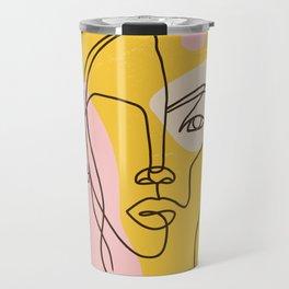 abstract woman  Travel Mug