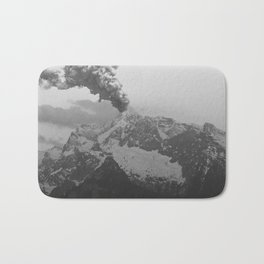 Volcano black and white Bath Mat