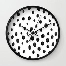 Messy Dots Wall Clock