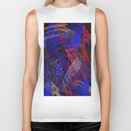 Abstract blue background Biker Tank
