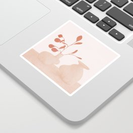 Minimal Branches and Vases Sticker