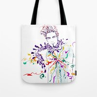 chill Tote Bags featuring Chill by Sarah Soh