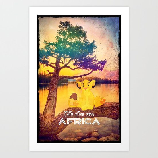 This time for africa - for iphone Art Print