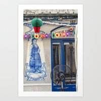 portugal Art Prints featuring PORTUGAL by Sébastien BOUVIER