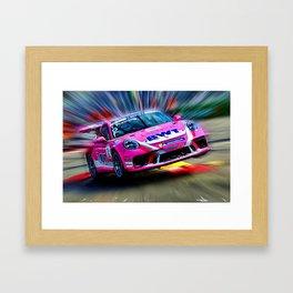 Pink Speed Framed Art Print