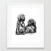 puppies Framed Art Prints featuring Puppies by Tony Seeker