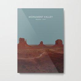 Monument Valley, USA Travel Artwork Metal Print
