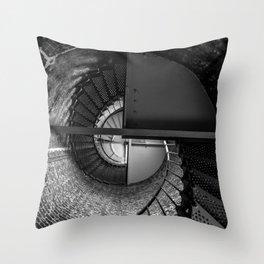 Cape Blanco Lighthouse Spiral Staircase - Oregon Throw Pillow
