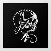 bouletcorp Canvas Prints featuring Deinonychus by Bouletcorp